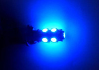 Wholesale T10 LEDs LED Strobe Light Bulbs V white red blue green DHL Freeshipping