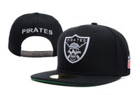 Wholesale Unkut Pirates Snapback Black and white caps cheap basketball adjustable hats mix order accept freeshipping