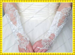 Wholesale Lace In Stock Fingerless Short Bridal Gloves Cheap Wedding Accessories High Quality