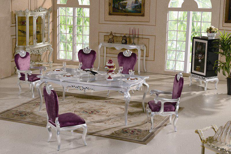 Silver Dining Sets. Silver Dining Sets 2017 Classic Room Furnitures Leaf  Gilding Luxury Furniture From