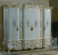 Wholesale classic bedroom furnitures luxury hand carved wardrobe