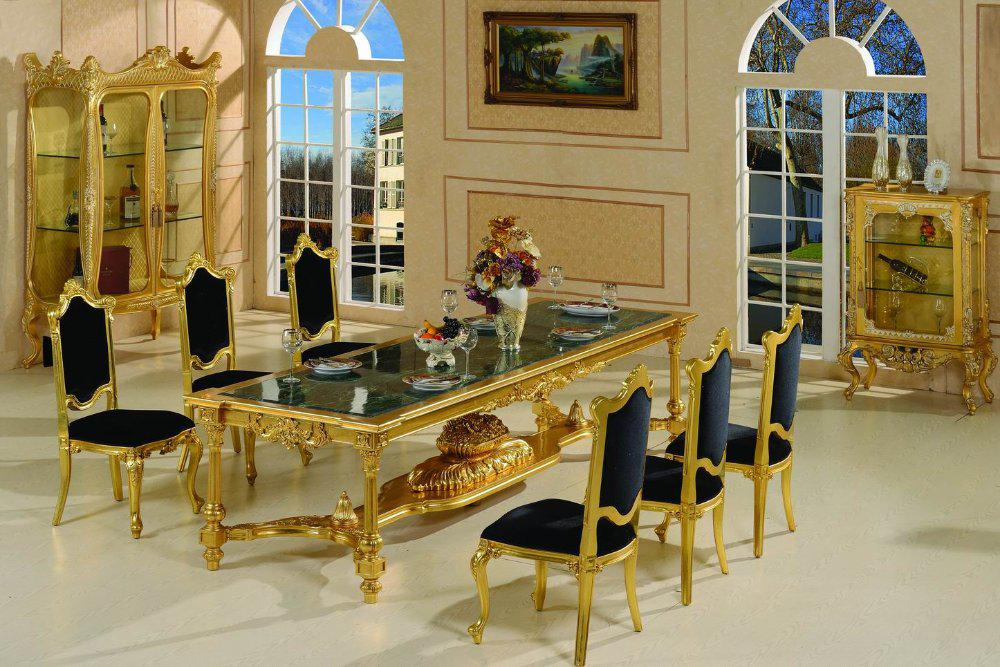 2017 french style dining room furniture french baroque - Set de table baroque ...