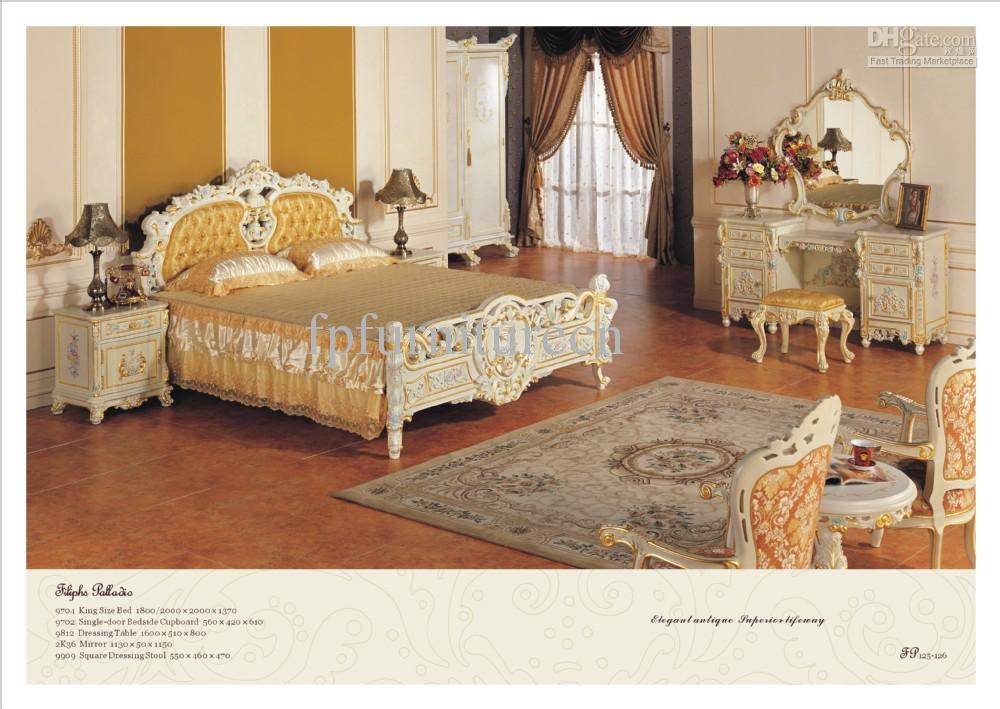 2017 European Style Bedroom Furniture French Baroque Furniture From