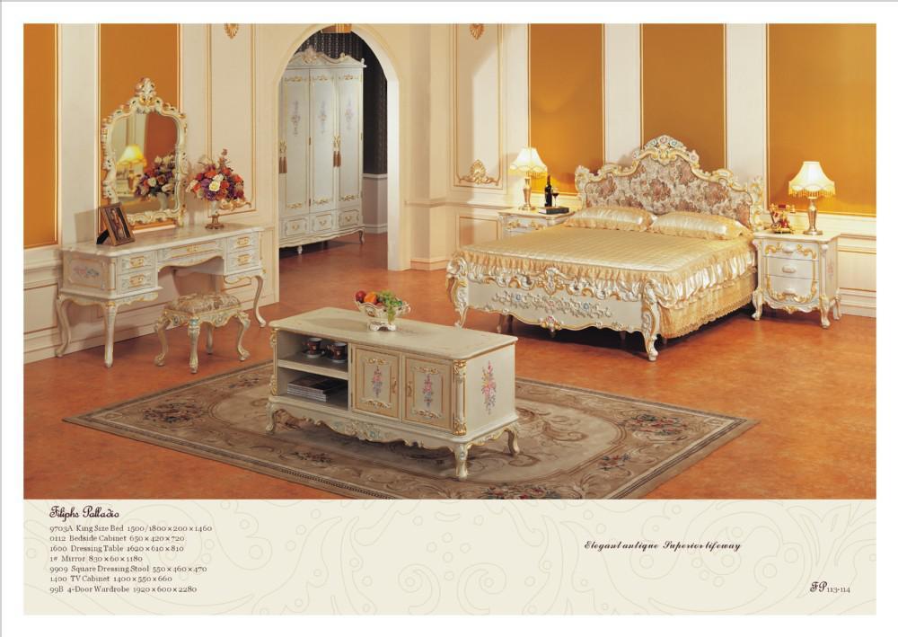 2017 Antique Classic Bedroom Furniture Solid Wood Hand Carved Bedroom Set From Fpfurniturecn