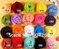 Wholesale Free ship Korean wrinkle scarf scarves all match candy color transparent elegant silk scarf shawl
