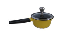 Wholesale 16cm Yellow Nonstick Sauce Pan Ceramic Non stick Milk Pot Nonstick Cookware EMS free