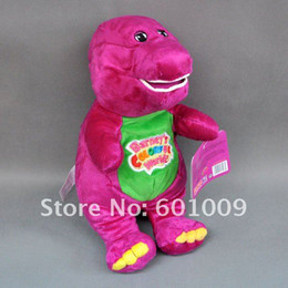 Wholesale 30cm Barney Child s Best Friend Plush Soft Stuffed Doll Toy for kids gift EMS