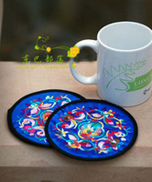 T / C beautiful c cups - Beautiful Hand Embroidered Cup Coaster Mug Coasters Birthday