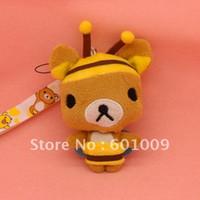 Wholesale Japan Rilakkuma Bear Plush Cell Phone Strap Stuffed Soft doll quot