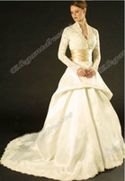 Model Pictures Portrait Satin Long Sleeves 2013 Hot Arrival Ball Elegant Lace Fabric Gold Belt V-neck WDa001