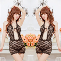 Woman Low Bosom Lace Sexy Lingerie Former open rose pattern lace sexy lingerie pajamas nightgown One-Pieces, W1394