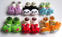 Wholesale Baby shoe socks with cartoon animals decorated cotton Non slip on the bottom months old baby wear