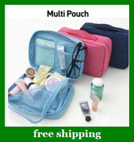 Wholesale Multi functional Canvas bag bankbook pocket Cosmetic case wallets make up Bags gifts