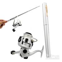 Wholesale MHJA357 High Quality Telescopic Hot New Mini Pen Fishing Rod Fishing Reel with Pocket Size