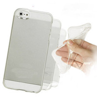 Wholesale thin transparent TPU Gel Crystal Clear Snap On mm soft silicon Case cover for iphone5 iphone S S