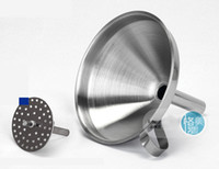 Wholesale 4 Inch Stainless Steel Funnel With Detachable Strainer Kitchen Tools Funnels FREE BY EMS FEDEX