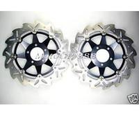 For Honda Brake Discs  CNC Floating Front Brake Rotor Disc Kawasaki ZXR 400 ZZR 600 Z1000 03 06 Black