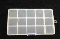 Wholesale 15 Slots Clear Storage Box Bead Organizer Display Case