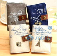 Wholesale Classic Retro vintage romance cotton and linen Card Holder Wallet