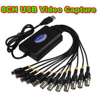 Wholesale 8CH FPS H Camera USB DVR Video Capture Card Channel CCTV Security Camera to PC TV