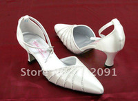 Wholesale Pointed Toe Diamante cm Mid High Heels Womens Pump Stiletto Wedding Shoes
