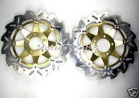 For Honda Brake Discs  CNC Braking Wave Bremsscheiben Kawasaki ZXR 400 ZZR 600 Z1000 03 06 Gold