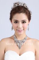 earrings sexy - Sexy Wedding Bridal Prom Dressess Rhinestone Jewelry Necklace Earring Set