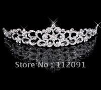 Wholesale 2016 Luxury Crystal Flower like Wedding Bridal Bridesmaid Prom Party Rhinestone Tiara Vintage Wedding