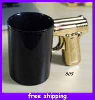 white ceramic mug - Unique Pistol Grip Gun Handle coffee Cup Ceramic Mug New Year Gift Styles