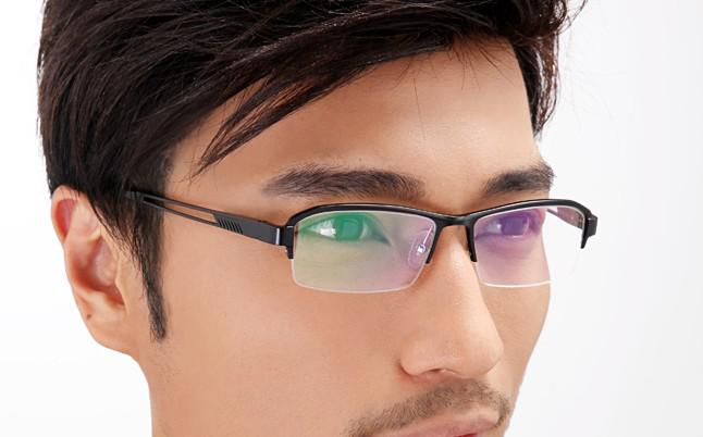 mens glasses fashion  Business Fashion Glass Frame Mens Eyeglass Frames Black Color ...