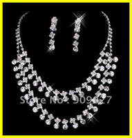 Wholesale New Style In Stock Sexy Necklace Earrings Jewelry Set Bridal Accesory