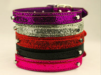 Wholesale colors Colorful Bling Personalized Dog Collars Customized Name Rhinestone Buckles XS S M L