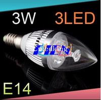 Wholesale Christmas New Design Chandelier W E14 E27 LED Candle Bulb Light Crystal Lamp Cool White Warm White