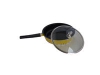 Wholesale 28cm Yellow Nonstick Frypan Ceramic Non stick Deep Fry Pan Nonstick Cookware EMS free