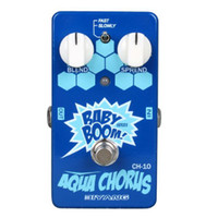 Wholesale Biyang Baby Boom CH Electric Guitar Bass Two Speed Analog Effect Pedal Aqua Chorus True Bypass