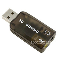 Wholesale USB Mic Speaker Audio Sound Card Adapter