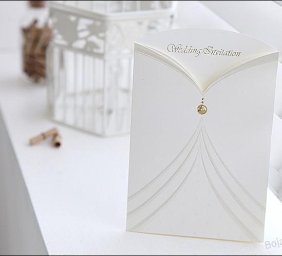 Customized White Hollow Out Diamond Words Wedding Invitation Out – Diamond Wedding Invitation Cards