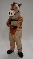 Men acrylic custom design - ohlees professional factory design custom made fecocious razorback Hog cartoon Mascot Costume adult costumes