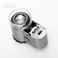 Wholesale 50X Smallest Mini Digital Microscope With LED Lights Loupe Pocket Magnifier