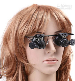 Wholesale 20X Jewelry Watch Repair Magnifier eyes Glasses Style With LED Light portable Loupe
