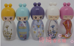 Wholesale 30 Cartoon Doll Perfume bottle Lovely Glass Perfume bottle Spray bottle ml