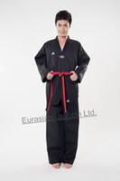 Wholesale Black discount taekwondo uniform Cotton TKD suit for man