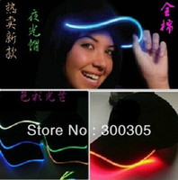 Wholesale 10pcs Baseball cap flashing hat luminous LED cap different colors adjustment SIZE