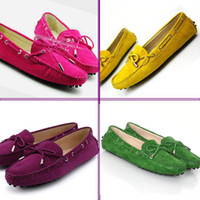 Wholesale high quality sheep leather women doug shoes lady comfortable slip on causal girl peas shoes