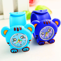 Wholesale slap watch Fashion Silicone quartz Watch colors cute tiger face watch