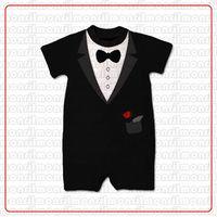 Boy Summer 100% Cotton BABY Romper Children Clothes Infant Bodysuits Baby Black One Piece Short Sleeve Rompers