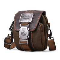 Wholesale male multifunctional shoulder bag messenger bag waist pack small canvas bag casual bag