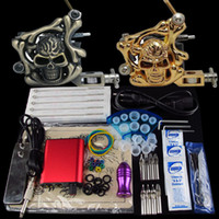 Beginner Kit 2 Guns  Tattoo Kit 2 Beginner Machine Gun Power Supply Foot Pedal Needle Grip Tip K182