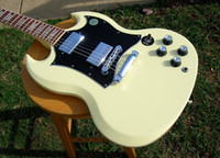 other other Basswood best guitar SG Cream Color Baked Maple Fret Board 498T 490R Humbuckers
