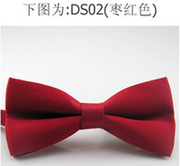 Wholesale Fashion Bowtie Polyester Pre Tied Wedding Bow Tie